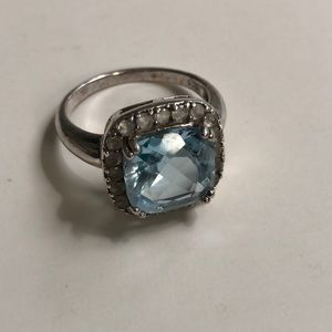 Jewelry - 925 Sterling Silver Aquamarine Ring